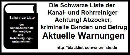 Rohrreinigung Waghäusel - Schwarze Liste