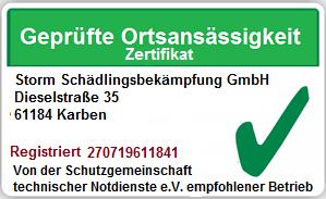 Kammerjäger Florstadt