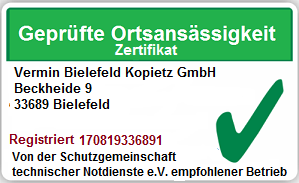 Kammerjäger Bielefeld Mitte